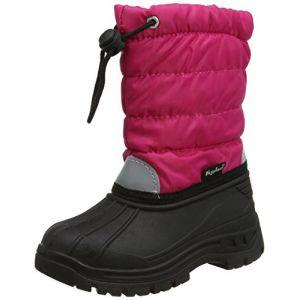 Playshoes Winterstiefel, Moonboots, Schneeschuhe für Kinder, mit Warmfutter, Bottes de Neige Fille, (18 Pink), 22/23 EU