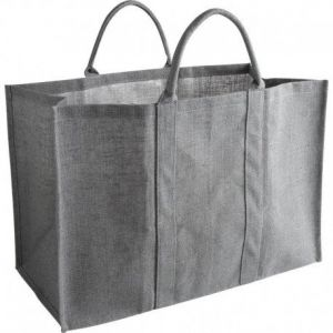 Sac porte bûches grand volume gris