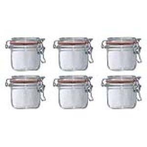 Le Parfait 6 terrines en verre 200 ml avec couvercle