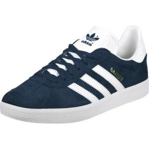 Adidas Gazelle, Sneakers Basses Mixte Adulte - Bleu -(Collegiate Navy/White/Gold Met),EU38