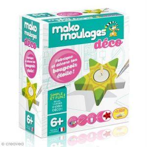Mako moulages Coffret moulage en plâtre - Mon bougeoir étoile déco - 1 moule