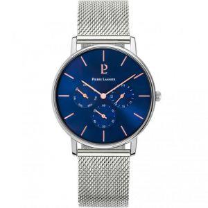 Pierre Lannier Montre CITYLINE 208G168 - Montre Boitier Acier Bracelet Acier Cadran bleu Homme