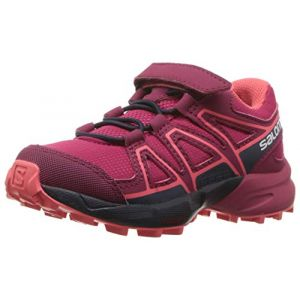 Salomon Speedcross Bungee K, Chaussures de Course sur Sentier Mixte Enfant, Rouge Cerise/Navy Blazer/Dubarry, 29 EU