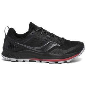 Saucony Peregrine 10 Black/Red Chaussures de trail Homme