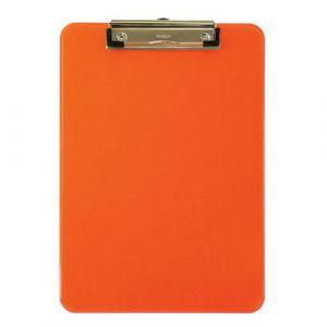 Maul Porte-bloc A4 neon Orange, plastique avec pince arceau,