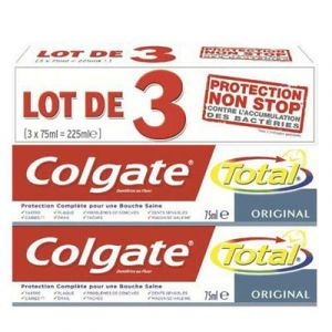 Colgate Oral Care Total Dentifrice Original 3 Tubes 75 ml - Lot de 4