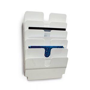 Durable 1700014011 - Présentoir mural Flexiplus 6 A4 LS, pour documents A4 paysage, blanc