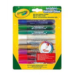 Crayola Colles pailletées lavables (9 tubes)