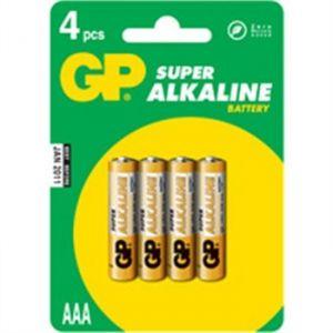 GP Super Alkaline 4 piles AAA (LR03)