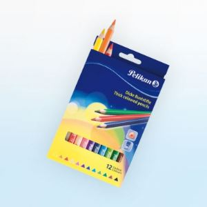 Pelikan 724039 - 12 Crayons de couleur épais BSD12DN assortis