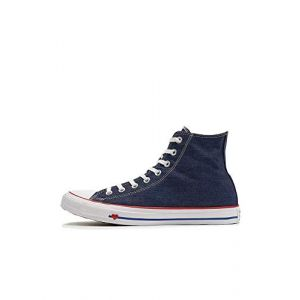 Converse Chaussures casual unisexes Chuck Taylor All Star montantes en toile Sucker for Love Jean Bleu - Taille 39,5
