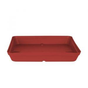 Artevasi Soucoupe Carrée Capri - 28 x 28 x H 4 cm - 2,7 L - Rouge foncé
