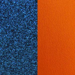Les Georgettes Vinyle Boucles D'Oreilles CUIRBOUCLESOREILLES-GLITTERBLEU-ABRICOT - Vinyle Boucles D'Oreilles Glitter Bleu Abricot Femme