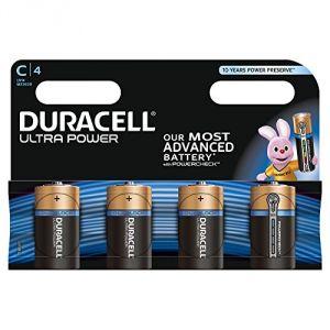 Duracell 4 piles alcalines C LR14 Ultra Power