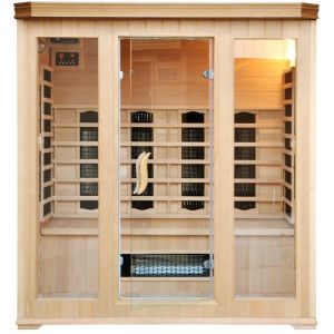Concept-Usine CABINE SAUNA INFRA ROUGE 4/5 PLACES LUXE INFRAROUGE