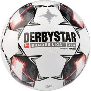 Derbystar Ballon Brillant APS Replica Bundesliga 2018/19 - Blanc/Noir - Blanc - Taille Ball SZ. 5