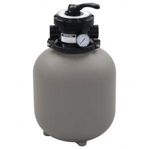 VidaXL Filtre à sable pour piscine avec vanne 4 positions Gris 350 mm