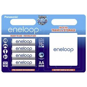 Panasonic Accus eneloop NiMH R6 (AA) 1.2 V 1900 mAh 4 pc(s) + boîte de rangement