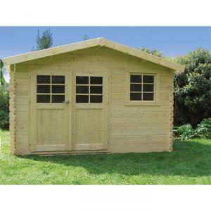 Solid Chimay - Abri de jardin en bois 28 mm 9,18 m2
