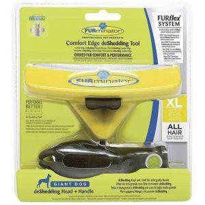 FURminator Brosse deShedding FURflex Comfort Edge pour chien de très grande race