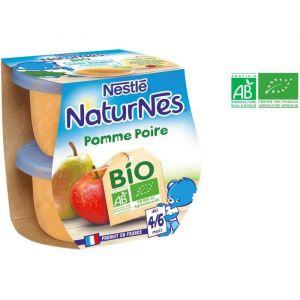 Nestlé Compotes pomme poire bio, 2 x 115 g - dès 4-6 mois