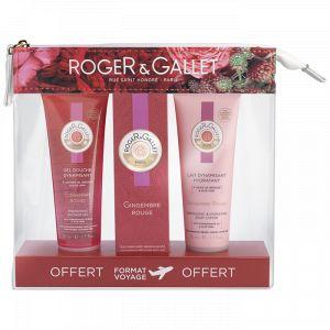 Roger & Gallet Trousse Gingembre Rouge - Gel douche, eau parfumée bienfaisante et lait hydratant