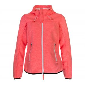 Superdry Polaires Hooded Prism Windtrekker - Neon Coral Slub / Ecru - Taille M