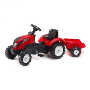 Falk Tracteur à pédales Garden Master avec remorque