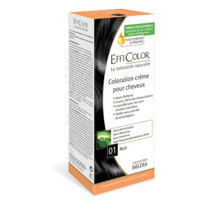EffiColor Noir N°01 - Coloration crème pour cheveux
