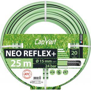 Cap Vert Tuyau d'arrosage Néo Reflex+ - Diamètre 15 mm - Longueur 25 m