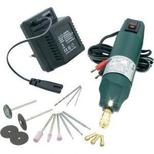Donau 0550 - Mini-perçeuse avec LED et boîte à outils 13 pcs