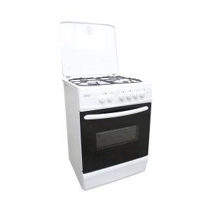 Brandy Best BCGE60B - Cuisinière mixte 4 foyers gaz avec four électrique