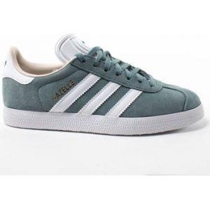 Adidas Gazelle W, Chaussures de Tennis Femme, Vert (Rawgrn/Ftwwht/Linen B41661), 40 EU