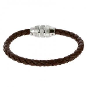 Rochet B360360 - Bracelet en acier et cuir pour homme