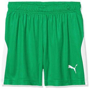 Puma Short de foot LIGA pour enfant, Vert/Blanc, Taille 176 |