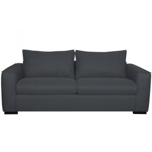 EVANS Canapé convertible 3 places Made in France Tissu Anthracite L 198 x P 100 x H 76 cm