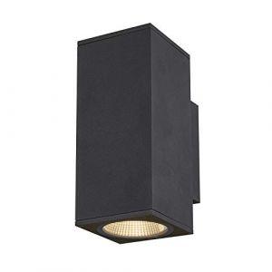 SLV ENOLA, applique extérieure, carré, M, anthracite, LED, 19W, 3000K/4000K, IP65, up/down - Lampes sur pied, murales et de plafond (extérieur)