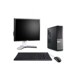 Dell Optiplex 7010 Desktop + Ecran 19'' - Intel Core i5-3470 / 3.20 GHz - RAM 4 Go - HDD 250 Go - DVD - GigaBit Ethernet - Windows 10 Professionnel