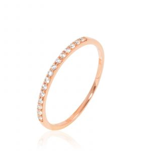 Histoire d'Or Alliance Or Rose Et Oxydes 0,24cts