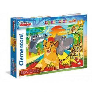 Clementoni Puzzle supercolor maxi La garde du Roi Lion 24 pièces