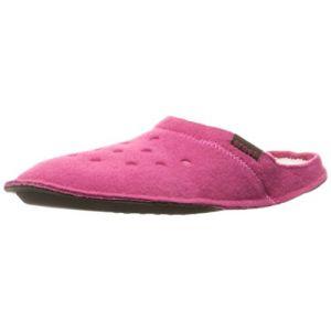 Crocs Classic Slipper, Chaussons Mixte Adulte - Rose (Candy Pink/Oatmeal), 38-39 EU (M5/W6 UK)