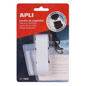 APLI 15242 - Lacet de sécurité pour badge, coloris blanc