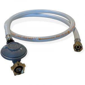 Alice's Garden Kit Tuyau Flexible de gaz 1,5 m à Embouts mécaniques + Détendeur Butane 28mbar 1,3kg/h - Normes NF