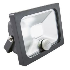 Blooma Projecteur LED à détection Manta noir 10W