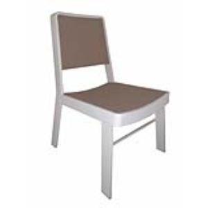 Chalet et Jardin 2 chaises de jardin empilables Haut St Marin en aluminium et textilène