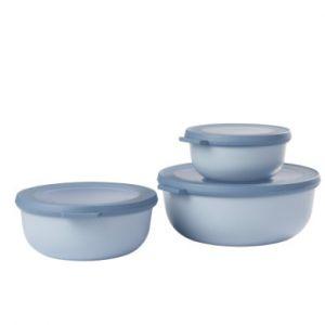 Rosti mepal 106230015700 Cirqula 3 Pièces, Plastique, Nordic Bleu, 19,5 x 19,2 x 8 cm
