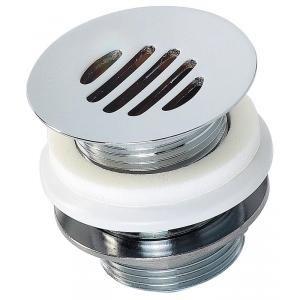 Valentin 12150000000 - Bonde lavabo D63 laiton chromé hauteur 60 mm sans lanterne sortie filetée 33x42