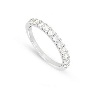 Rêve de diamants 3612030068256 - Alliance en or blanc sertie de diamants