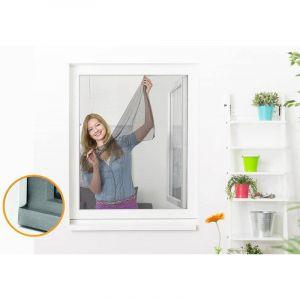 Empasa Moustiquaire auto-agrippante élastique pour fenêtre - 130 x 150 cm Noir - Neuf