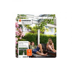 Gardena Kit de brumisation jardin urbain avec programmateur Easy Plus 13137-26